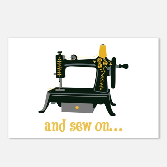 And Sew On... Postcards (Package of 8)