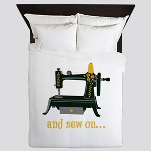 And Sew On... Queen Duvet