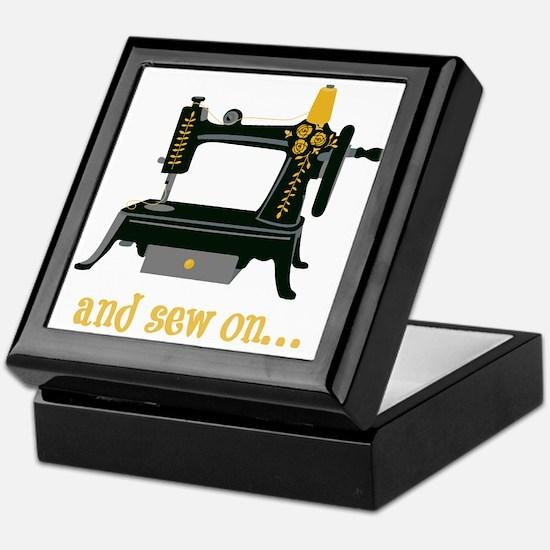 And Sew On... Keepsake Box