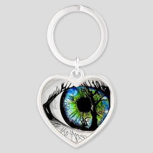 forest eye Heart Keychain