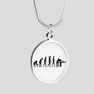 Evolution Billiards Silver Round Necklace