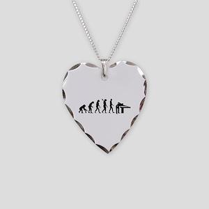Evolution Billiards Necklace Heart Charm