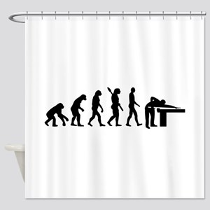 Evolution Billiards Shower Curtain