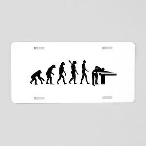 Evolution Billiards Aluminum License Plate