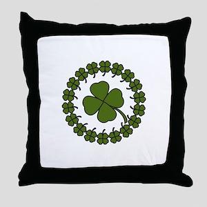 Clover Circle Throw Pillow