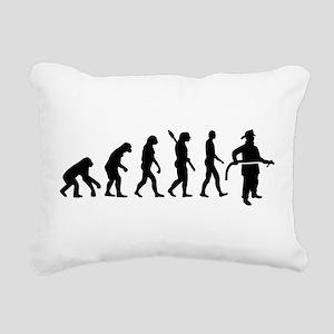 Evolution Firefighter Rectangular Canvas Pillow