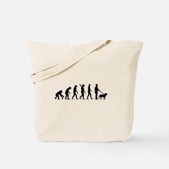 Evolution Walk the dog Tote Bag