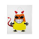 Evil Candy Corn Throw Blanket