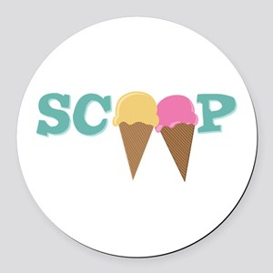 Scoop Round Car Magnet