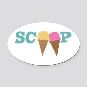 Scoop Oval Car Magnet