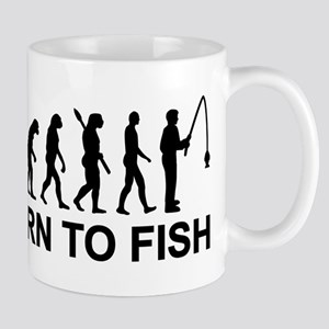 Fishing evolution born to fish Mug