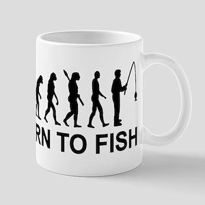 Fishing evolution born to fish Mug