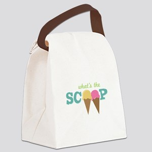 What's The Scoop Canvas Lunch Bag
