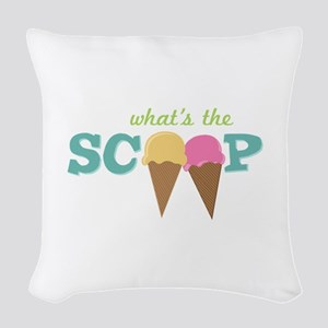 What's The Scoop Woven Throw Pillow
