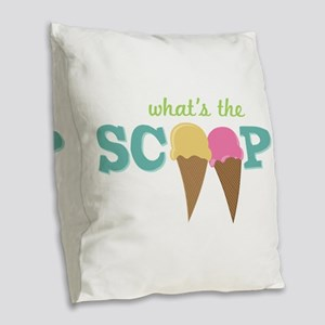 What's The Scoop Burlap Throw Pillow