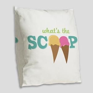 What's The Scoop Burlap Throw Pillow