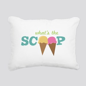 What's The Scoop Rectangular Canvas Pillow