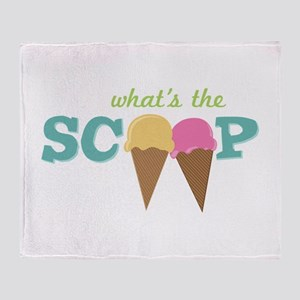 What's The Scoop Throw Blanket