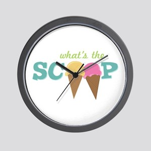 What's The Scoop Wall Clock