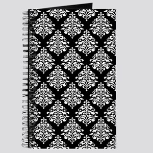 Damask black white Journal