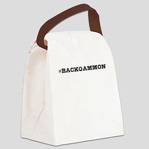 Backgammon Hashtag Canvas Lunch Bag