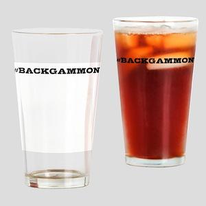 Backgammon Hashtag Drinking Glass
