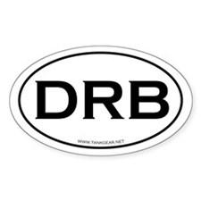 DRB - a journey, not a destin Oval Sticker