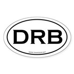 DRB - a journey, not a destin Oval Sticker