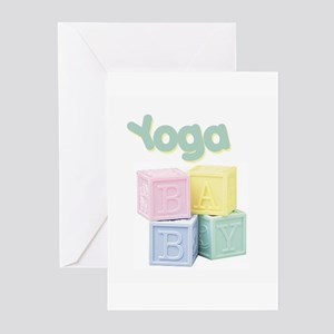 Yoga Baby Blocks Greeting Cards (Pk of 10)