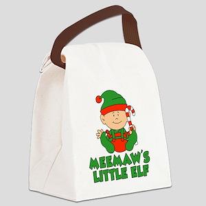 Meemaw's Little Elf Canvas Lunch Bag