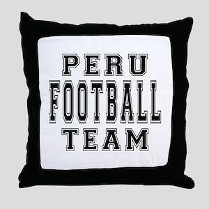 Peru Football Team Throw Pillow