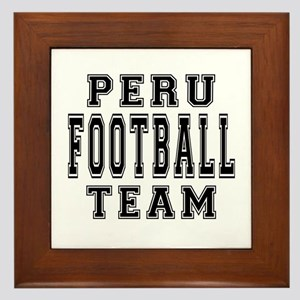 Peru Football Team Framed Tile