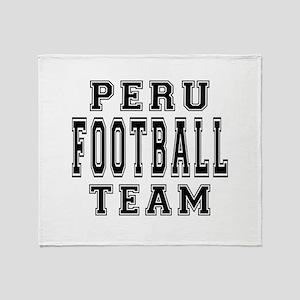 Peru Football Team Throw Blanket