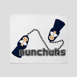 nunchuks Throw Blanket
