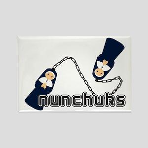nunchuks Rectangle Magnet