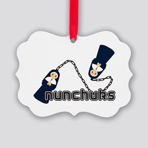 nunchuks Picture Ornament