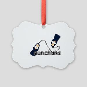 nunchuks Picture Ornament
