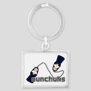 nunchuks Landscape Keychain