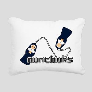 nunchuks Rectangular Canvas Pillow