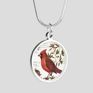 modern vintage winter woodland cardinal Necklaces