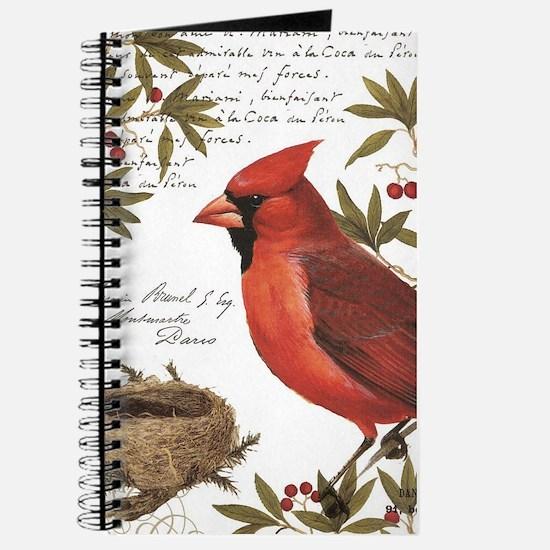 modern vintage winter woodland cardinal Journal