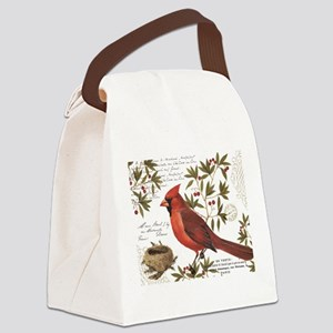 modern vintage winter woodland cardinal Canvas Lun