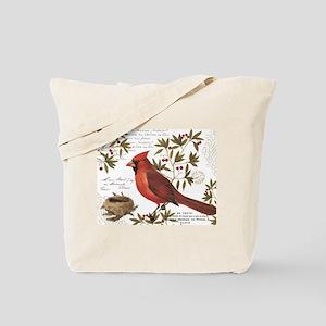 modern vintage winter woodland cardinal Tote Bag 4405aea9db9ff
