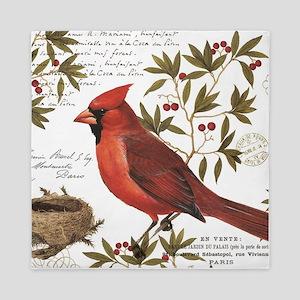 modern vintage winter woodland cardinal Queen Duve
