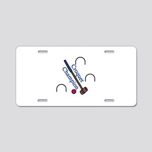 Croquet Champion Aluminum License Plate