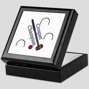 Croquet Champion Keepsake Box