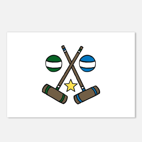 Croquet Gear Postcards (Package of 8)