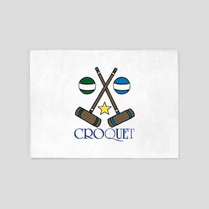 Croquet 5'x7'Area Rug