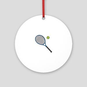Racquet & Ball Ornament (Round)