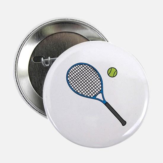 "Racquet & Ball 2.25"" Button"